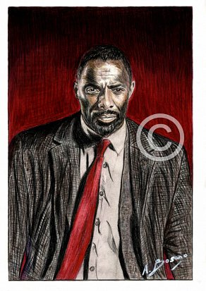 Idris Elba Pencil Portrait