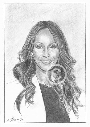 Iman Abdulmajid Pencil Portrait