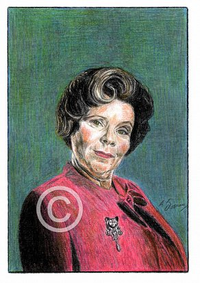 Imelda Staunton Pencil Portrait