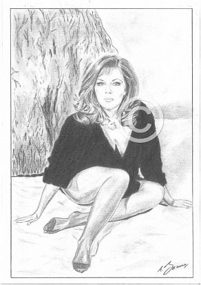 Ingrid Pitt Pencil Portrait