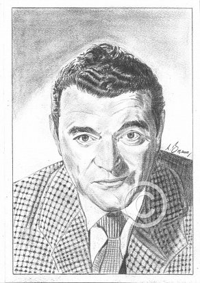 Jack Hawkins Pencil Portrait