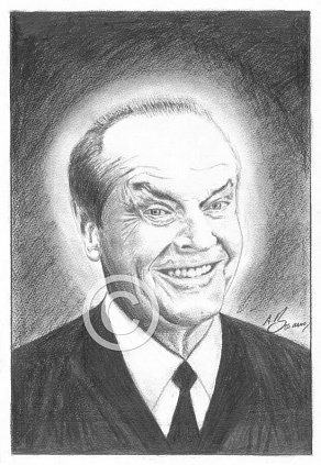 Jack Nicholson Pencil Portrait