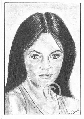 Jacqueline Bisset Pencil Portrait