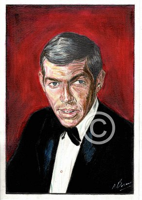 James Coburn Pencil Portrait