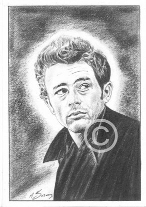 James Dean Pencil Portrait