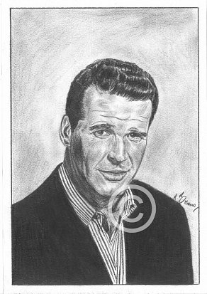 James Garner Pencil Portrait