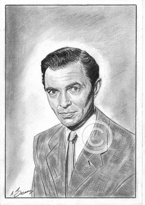 James Mason Pencil Portrait
