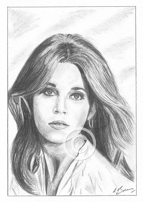 Jane Fonda Pencil Portrait