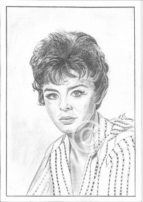 Janet Munro Pencil Portrait
