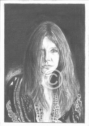 Janis Joplin Pencil Portrait