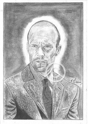 Jason Statham Pencil Portrait