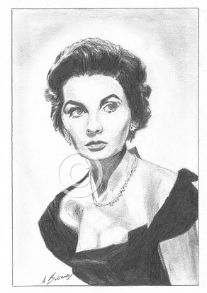 Jean Simmons Pencil Portrait