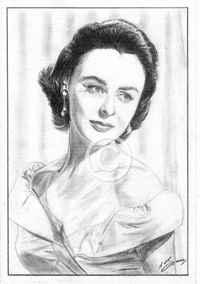 Jeanette Sterke Pencil Portrait