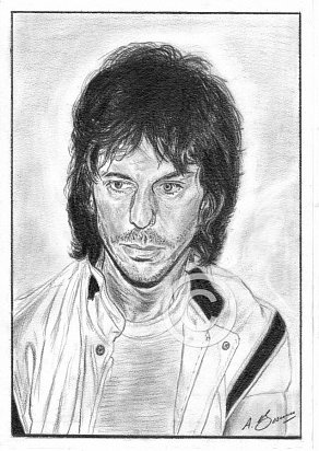 Jeff Beck Pencil Portrait