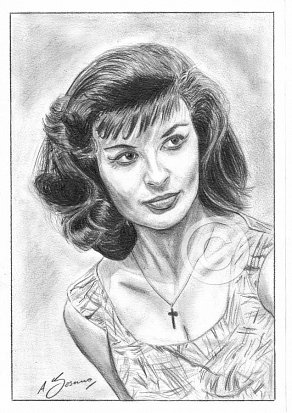 Jennifer Jayne Pencil Portrait