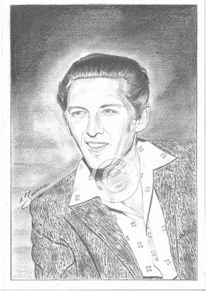 Jerry Lee Lewis Pencil Portrait
