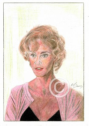 Jessica Lange Pencil Portrait