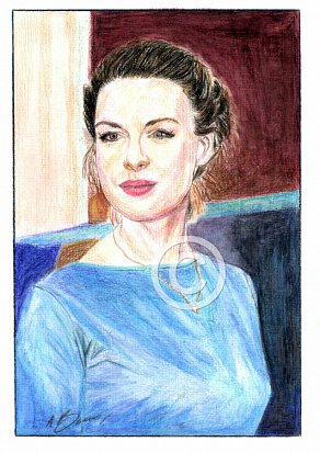 Jessica Raine Pencil Portrait