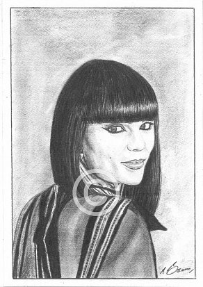 Jessie J Pencil Portrait