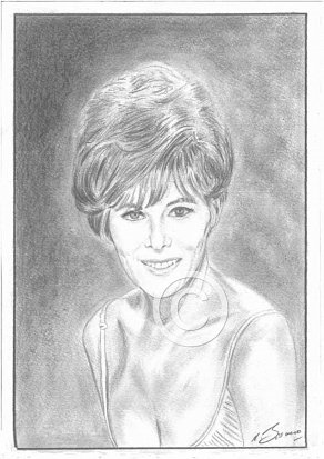 Jill St John Pencil Portrait