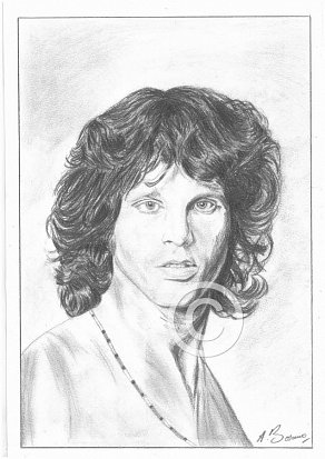 Jim Morrison Pencil Portrait