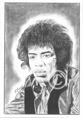 Jimi Hendrix Pencil Portrait