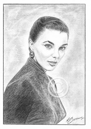 Joan Collins Pencil Portrait