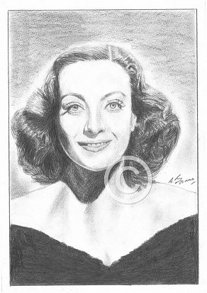 Joan Crawford Pencil Portrait