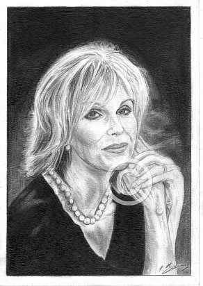 Joanna Lumley Pencil Portrait