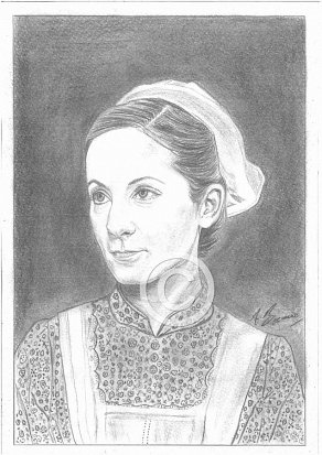 Joanne Froggatt Pencil Portrait