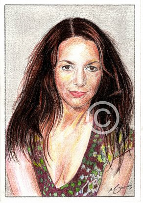 Joanne Whalley Pencil Portrait