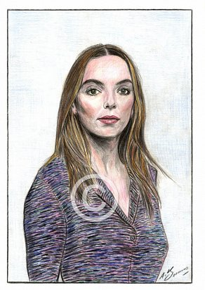 Jodie Comer Pencil Portrait