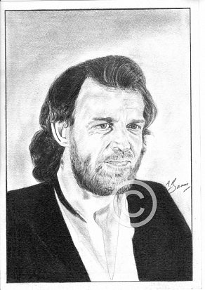 Joe Cocker Pencil Portrait
