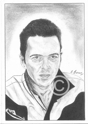 Joe Strummer Pencil Portrait