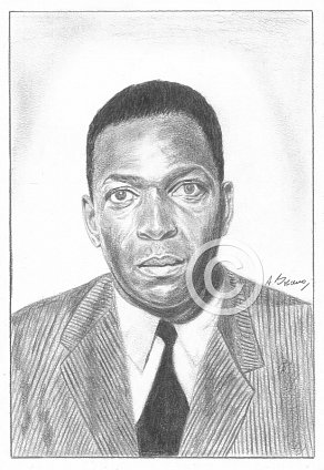 John Coltrane Pencil Portrait