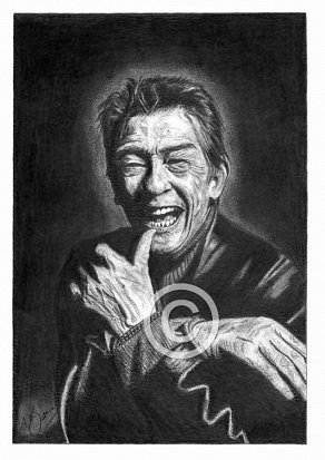 John Hurt Pencil Portrait