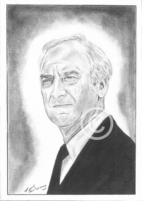 John Thaw Pencil Portrait