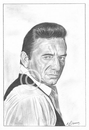 Johnny Cash Pencil Portrait