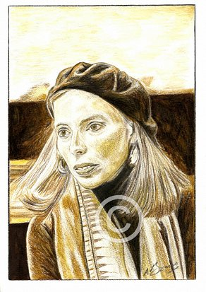 Joni Mitchell Pencil Portrait