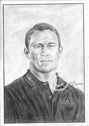 Jonny Wilkinson Pencil Portrait