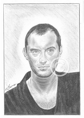 Jude Law Pencil Portrait