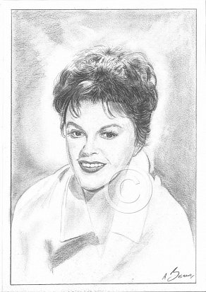 Judy Garland Pencil Portrait
