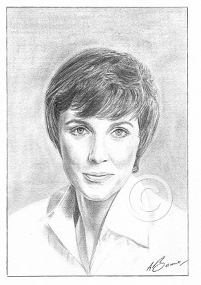 Julie Andrews Pencil Portrait