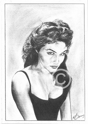Julie Newmar Pencil Portrait