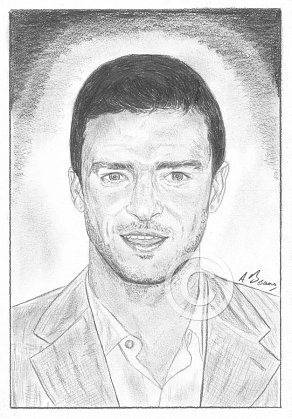Justin Timberlake Pencil Portrait