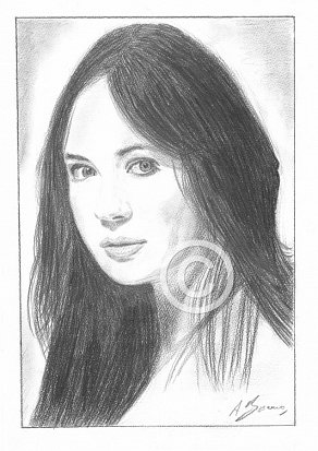 Karen Gillan Pencil Portrait