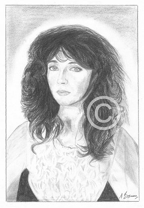 Kate Bush Pencil Portrait