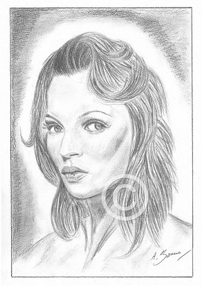Kate Moss Pencil Portrait