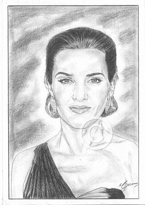 Kate Winslett Pencil Portrait