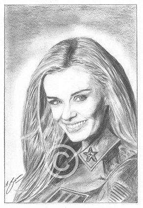 Katherine Jenkins Pencil Portrait